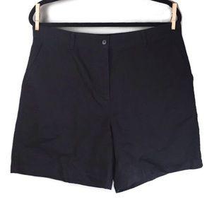 """LRL Ralph Lauren High Rise 6.5"""" Black Shorts Sz 14"""